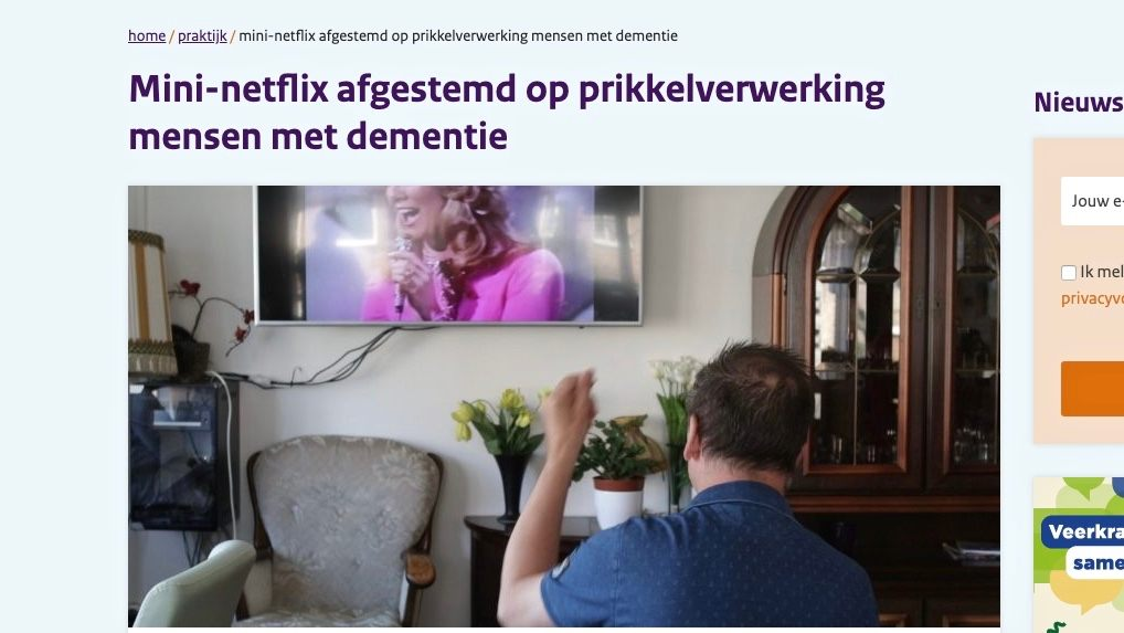 """""""Mini-netflix voor de dementiezorg""""? Dat maakt ons megatrots!"""
