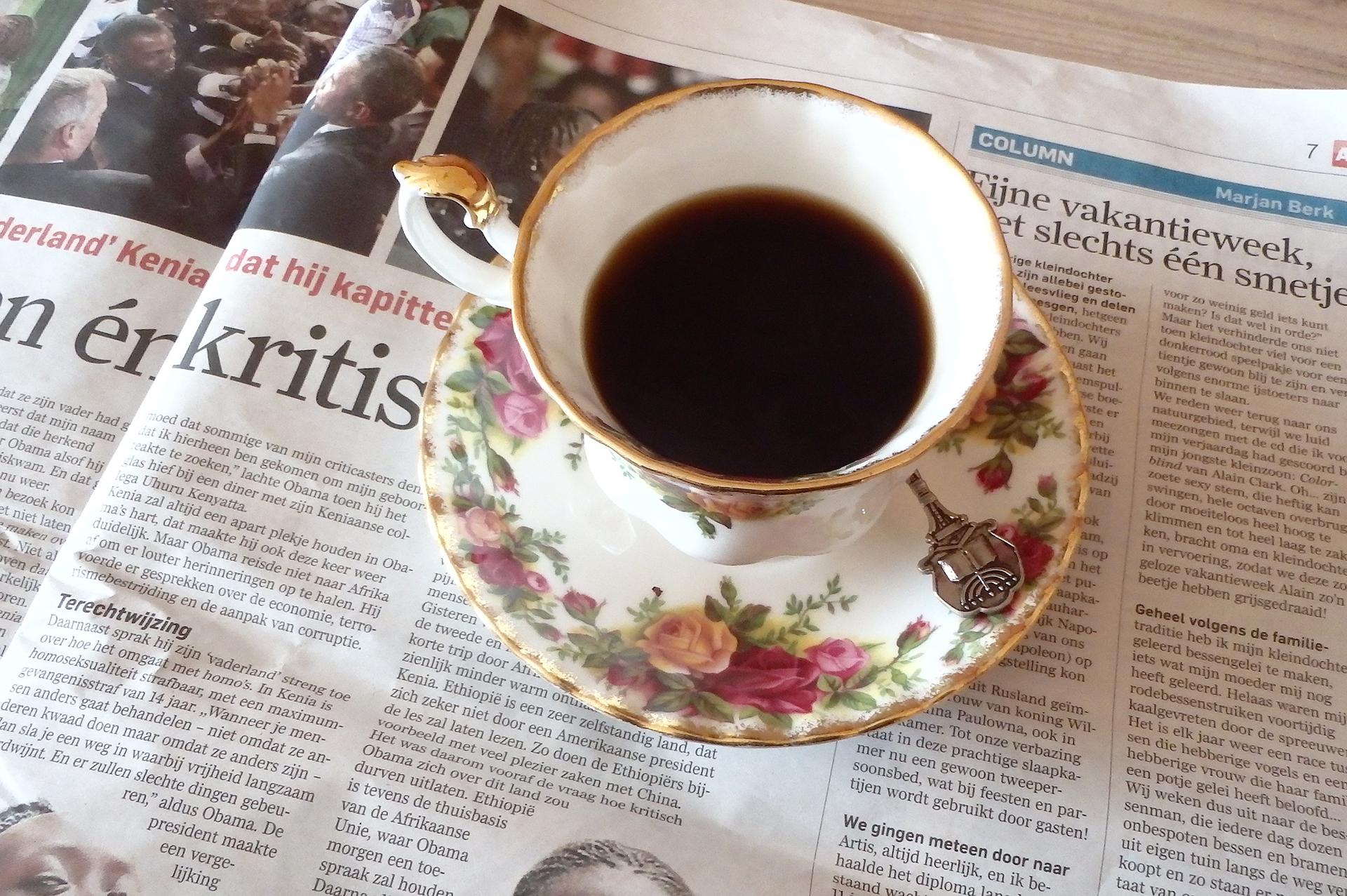 koffie krant